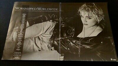 "Madonna Worshipped Worldwide ""True Blue""  Rare Original Print Promo Poster Ad"