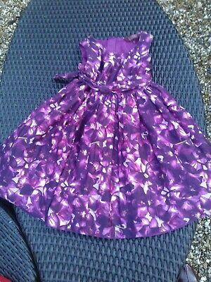 Girls Stunning Pink Ted Baker Pink Floral Dress Age 6 Years
