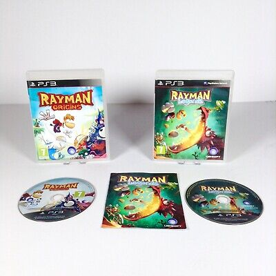 Rayman Legends Origins Video Games Bundle PS3 PlayStation 3 Ubisoft PAL