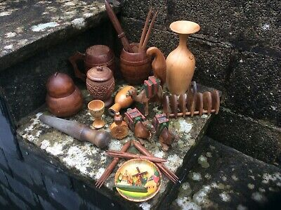 Collection Of Vintage Treen Items.