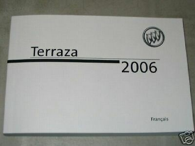 2006 BUICK TERRAZA Owner's Manual - French
