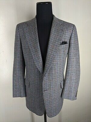 Paul Stuart Vintage 100% Wool Tweed Sport Coat 2 Btn Center Vent   45 Long