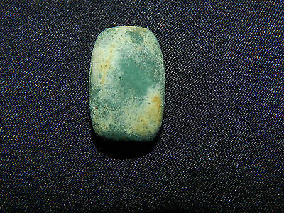 Pre-Columbian Green Jade Bead, Central America, Ancient Jade, Authentic