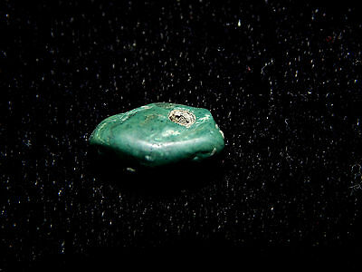 Authentic Green Jade Pendant Bead, Pre-Columbian, Central America