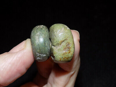 Pre-Columbian Jade Round Beads, Mayan Beads Central America