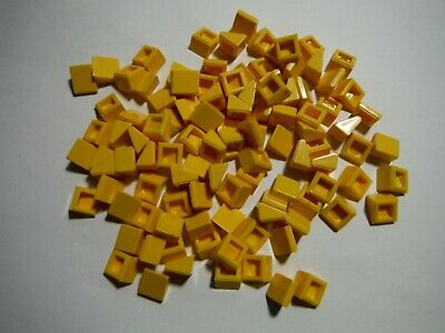 LEGO Trans Orange Slope 30 1x1x2//3 Lot of 100 Parts Pieces 54200