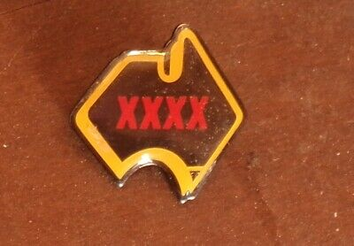 Xxxx Beer Map Of Australia Badge Castlemaine Perkins Qld Brewery #1