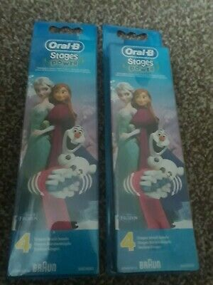 Braun Oral B Power Kids Stages Frozen Toothbrush Heads (Pack Of 8)
