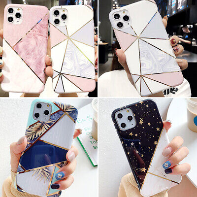 F iPhone 11 Pro Max 8 Plus XS MAX XR Geometric Marble Cute Girl Phone Case Cover