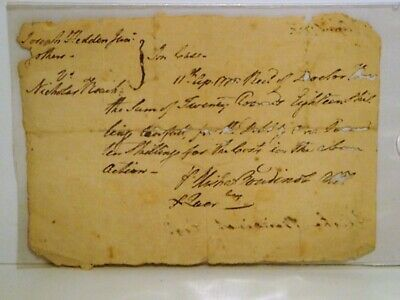 1778 Newark NJ Court Document-New Jersey Supreme Court Justice Signed-History
