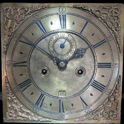 Early 8 Day Longcase Clock Dial and Movement for Refurbishment. c1710