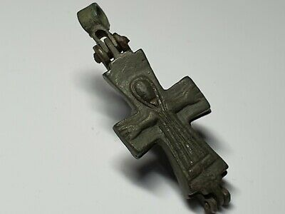 MEDIEVAL BYZANTINE RELIQUARY  CROSS- HOLY LAND   10th-13en century AD