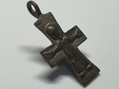 MEDIEVAL BYZANTINE  BRONZE CROSS HOLY LAND  10th-12th century AD