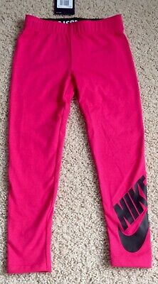 NIKE Kid Girl Leggings Size 4 Rush Pink Sports Spandex New 2 available