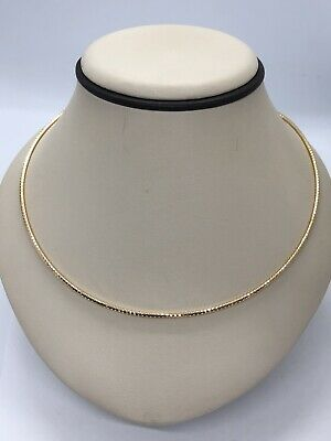 """Gorgeous 14KT Yellow Gold 585 ITALY Mesh Collar Type Necklace - 16"""" Long"""