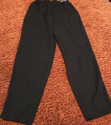 Chef Design Traditional Small Unisex Baggy Black Chef Pants Elastic Waist