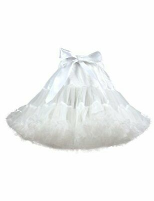 Baby Girl's Fluffy Tutu Skirt Toddler Tulle Birthday Party Tiered (2-3T White)