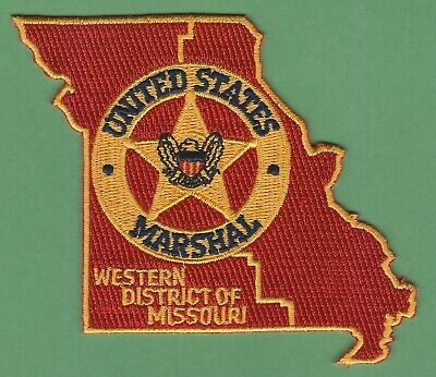 USMS US Marshal State Shaped Missouri Red patch Police Sheriff State MO