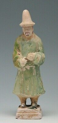 antique Chinese pottery Mingqi Tomb guardian attendant figure statue 20,5cm Ming