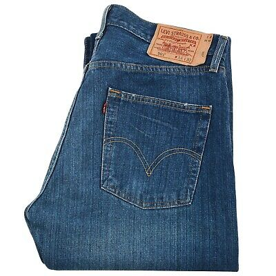 Levi's 501 Mens Classic Relaxed Straight Leg Denim Jeans Size W34 L32 Authentic