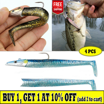 Longtail Lures 100mm not Dolive Sea Bass Pollock Cod Wrasse Mixed Colour Pack