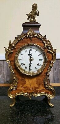 Franz Hermle Style Louis XV Boulle Mantle Clock & Germany Key
