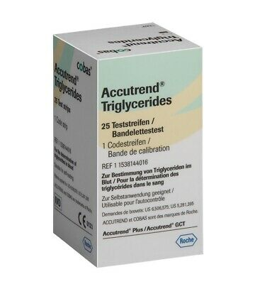 Accutrend Test Strips For Triglyceride 25 Strips - Roche