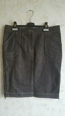 Stella McCartney For H&M Black Denim Jeans Pencil Skirt Size 40 Approx 12 Uk