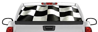 of Navy BACK Window Graphic Perforated Film Decal Truck Decal Wavy US Flag Dept