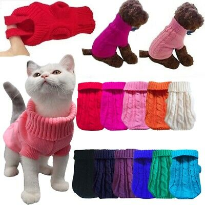 Winter Dog Clothes Puppy Pet Cat Sweater Jacket Coat For Small Dogs Chihuahua CA