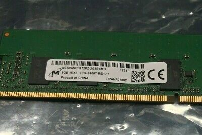 MICRON MTA9ASF1G72PZ-2G3 8GB 1Rx8 19200 PC4-2400-R REGISTERED SERVER MEMORY RAM