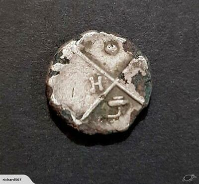 #c625# Greek silver fouree Hemidrachm coin from Cherronesos 386-338 BC
