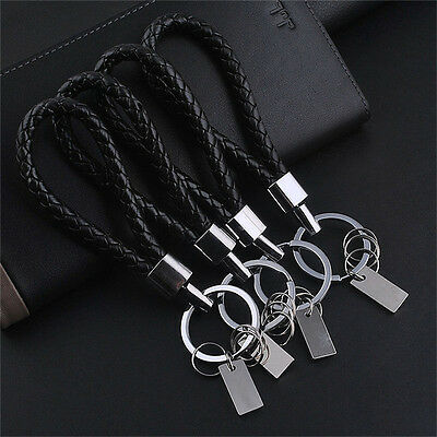 New Fashion Men Leather Key Chain Ring Keyfob Car Keyring Keychain Gift Cool .