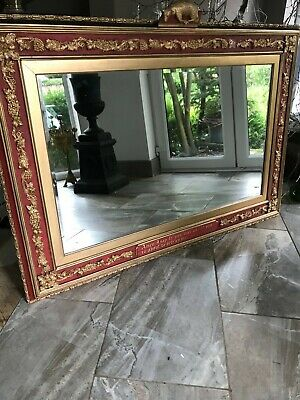 Large Antique Gothic Ecclesiastical Mirror from a Church
