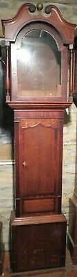 """Good Antique Longcase Clock Case. Oak and Mahogany. c1820. For 14"""" by 20"""" Dial"""