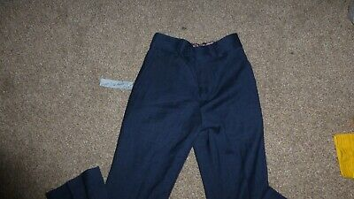 NEXT SIGNATURE BOYS 8 YEARS  BLUE SUIT TROUSERS Height128 CM adjustable waist