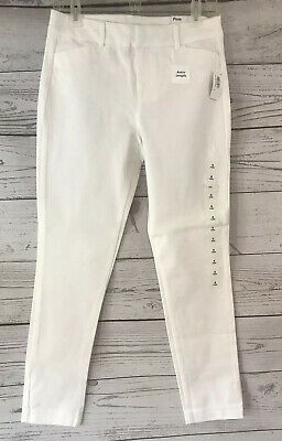 NWT Old Navy White Khaki Ankle Pixie Pants Womens Size 14 Chino Stretch NEW Crop