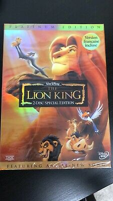 New! Sealed! The Lion King (2-Disc Special Platinum Edition, 2003) DVD