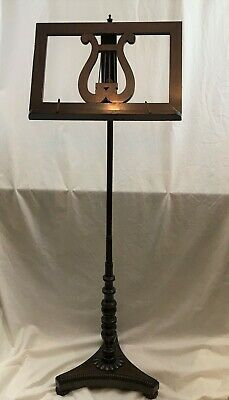 English Regency Music Stand. Mahogany Wood. Early 19th Century