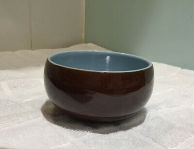 Vintage Denby Homestead Brown round bowl very good condition 4 inches diameter