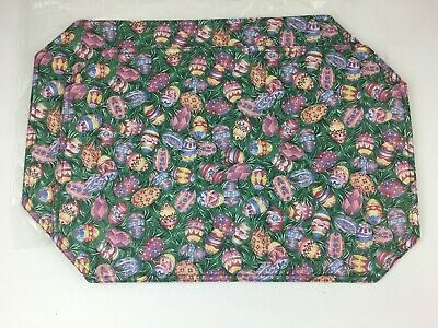 Easter Egg Longaberger Set of 2 Fabric Placemats