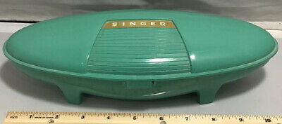Vintage Green Singer Sewing Machine 1960 Button Holder Case Only Free Shipping