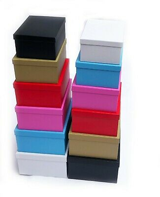 Decorative Storage Boxes Gift with Lid Box Cardboard Organiser Large Stack Shelf