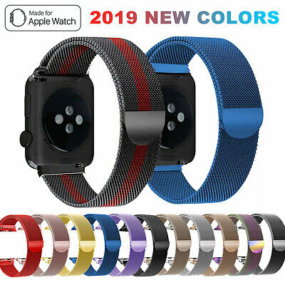 For Apple Watch iWatch Strap Band Series 5 4 3 2 1 Milanese Stainless Steel Loop
