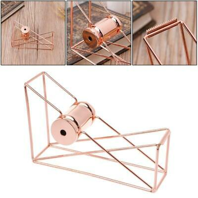Rose Gold Hollow Tape Cutter Washi Storage Organizer Stationery Office Supply w