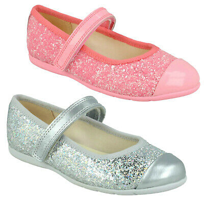 Girls Clarks Dance Tap Toddler Hook & Loop Infant Glitter Mary Jane Shoes Size