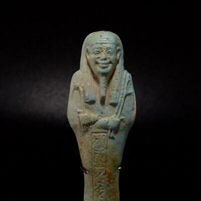 An Egyptian Ushabti for the Overseer of the army Horkhebi, 26th Dynasty ca. 664