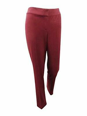 MSRP $79 NINE WEST Womens Stretch Office Ankle Pants MAROON SIZE 10