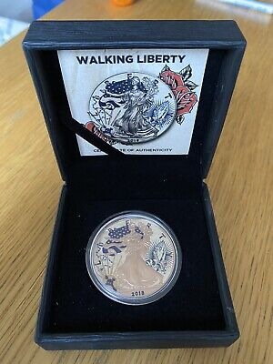 USA 2018 1$ Liberty Traditional TATTOO Tiger Hunting 1 oz Silver Coin