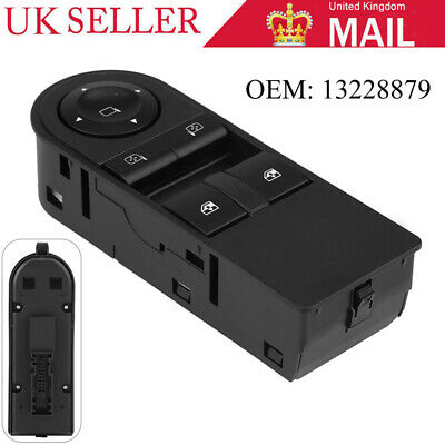 Front Right Window Mirror Switch For Vauxhall Astra H Electric Black 13228879 UK
